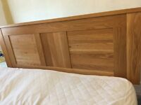 Kingsize headboard. Solid Oak from Furniture Village