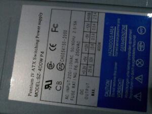 Pentium 4 SZ-400W P4 ATX Power Supply and MITSUMI Floppy Drive
