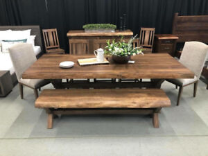 CANADIAN MADE and SOLID WOOD TABLES and CHAIRS
