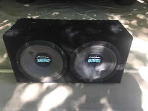 """Sub box with 2 Pioneer 10"""" subs"""