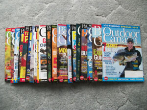 OUTDOOR CANADA MAGAZINES -- 20 ISSUES