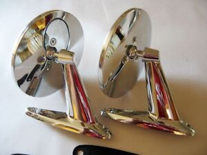 NOSVINTAGE CLASSIC CHROME TWIN SPORT ROUND CAR TRUCK SIDE VIEW MIRRORS