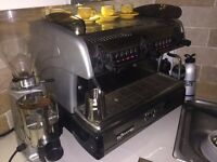 La Spaziale S5 2 group coffee machine and mini mazzer grinder