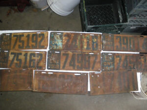 OLD ONTARIO LICENCE PLATES
