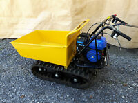 Man & Gas Powered Tracked Dumper For Hire