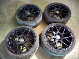 18 inch 5stud black spider alloy wheels for sale call today