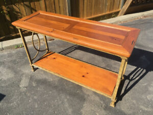 Iron &Wood Sofa Table and Side Table
