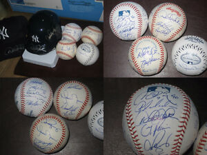 Auto/Signed Baseball Collection- NY Yankees: Jeter, Arod, Rivera