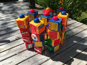 Fisher Price Action Stacking Blocke ( set of 32). ( SOLD )