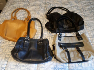 Tignanello and nine west purses. Black,yellow,navy and grey.