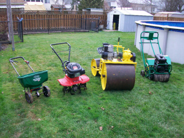 Dan Quot S Lawn Rolling Aerating And Fertilizing Lawn Tree