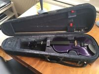Purple 3/4 Violin for sale - perfect for learner!