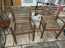Garden furniture, table and chairs.