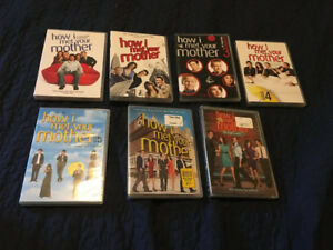 DVD seasons of How I Met Your Mother, The Office, etc.