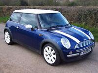 2002 02 Bmw Mini 1.6 ( Chili ) Cooper , Blue with White Stripes , New Arrival