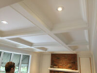 COFFERED CEILINGS, CROWN MOULDING, TRIM - by Certified Carpenter