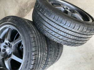 Goodyear all season tires 225/45R17 with rims