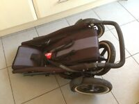Phil & Teds 3 wheel buggy pushchair pram double