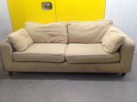 "Sofa workshop beige two seater sofa ""FREE LOCAL DELIVERY """