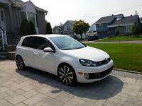2012 Volkswagen Golf GTI DSG Blanche Hatchback - Une seule taxe.