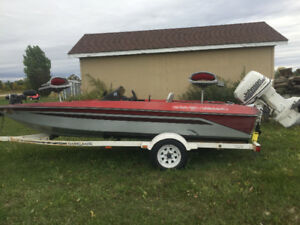 1989 Bass Tracker Fishing Boat and Trailer