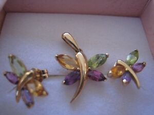 DRAGONFLY 14K GOLD WITH GEMSTONES Purchased @$1,100