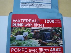 POND WATERFALL PUMP  1200GPH   NEW IN BOX