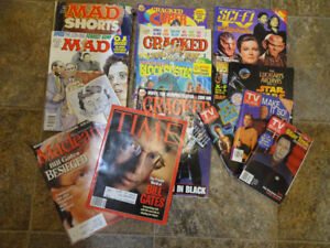 Vintage Magazines MADD, Cracked, Macleans, Time, TV Guide, SciFi