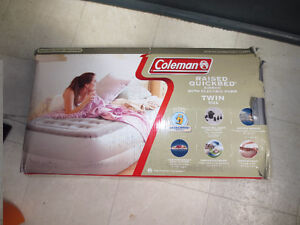 Coleman Double High Air Mattress With AC Pump- Twin