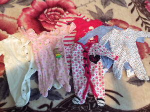 Huge lot of baby girl clothes and shoes