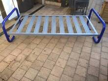 Blue & Grey Pipe Metal Single Bed Beckenham Gosnells Area Preview