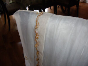 Multiple Curtains/shower/Rods/Rings, table cloth, and protector