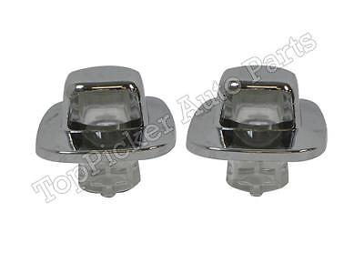 For 1988-2000 GMC C/K PICKUP 1992-1999 SUBURBAN LICENSE LIGHT CHROME LENS SET