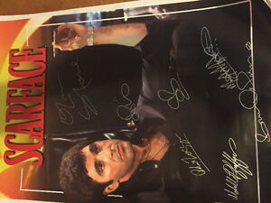 Scarface poster signed by cast with coa 24x36 West Island Greater Montréal image 2