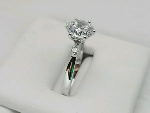 Size 6.25 14KT 0.06CT Diamond Tacori Styled Ring
