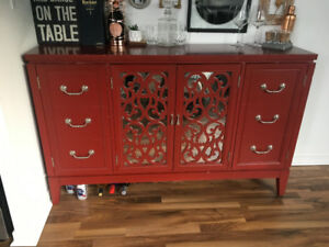 Red Dining cabinet