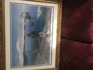 Beautifully framed John Cabot picture for sale!