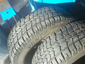 "ARTIC CLAW 225/70R-16 SNOW TIRES ON 5X127/16"" RIMS"