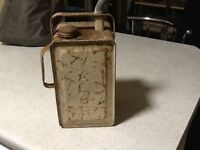Two vintage valour petrol cans