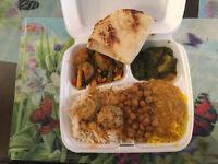 Vege Combo Platter 11.50: Shalimar Restaurant