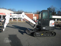 Mini ex with forestry mulcher
