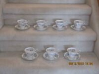 ROYAL ALBERT - CUPS AND SAUCERS