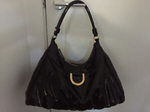 Gucci Patent Leather Hobo Bag
