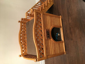 Hand crafted wooden dog house