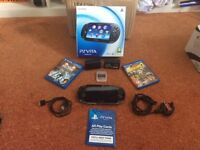 ps vita plus games and 2 cards