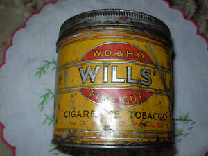 Wills' Cigarette Tobacco Can St. John's Newfoundland image 1