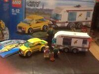 LEGO City car and caravan set 4435 original instructions, used and box