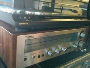 Classic TECHNICS Receiver & Turntable with Speakers
