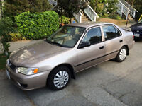 2002 Toyota Corolla CE excellent condition, well maintained