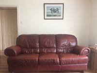 Sofa dark red 3seater